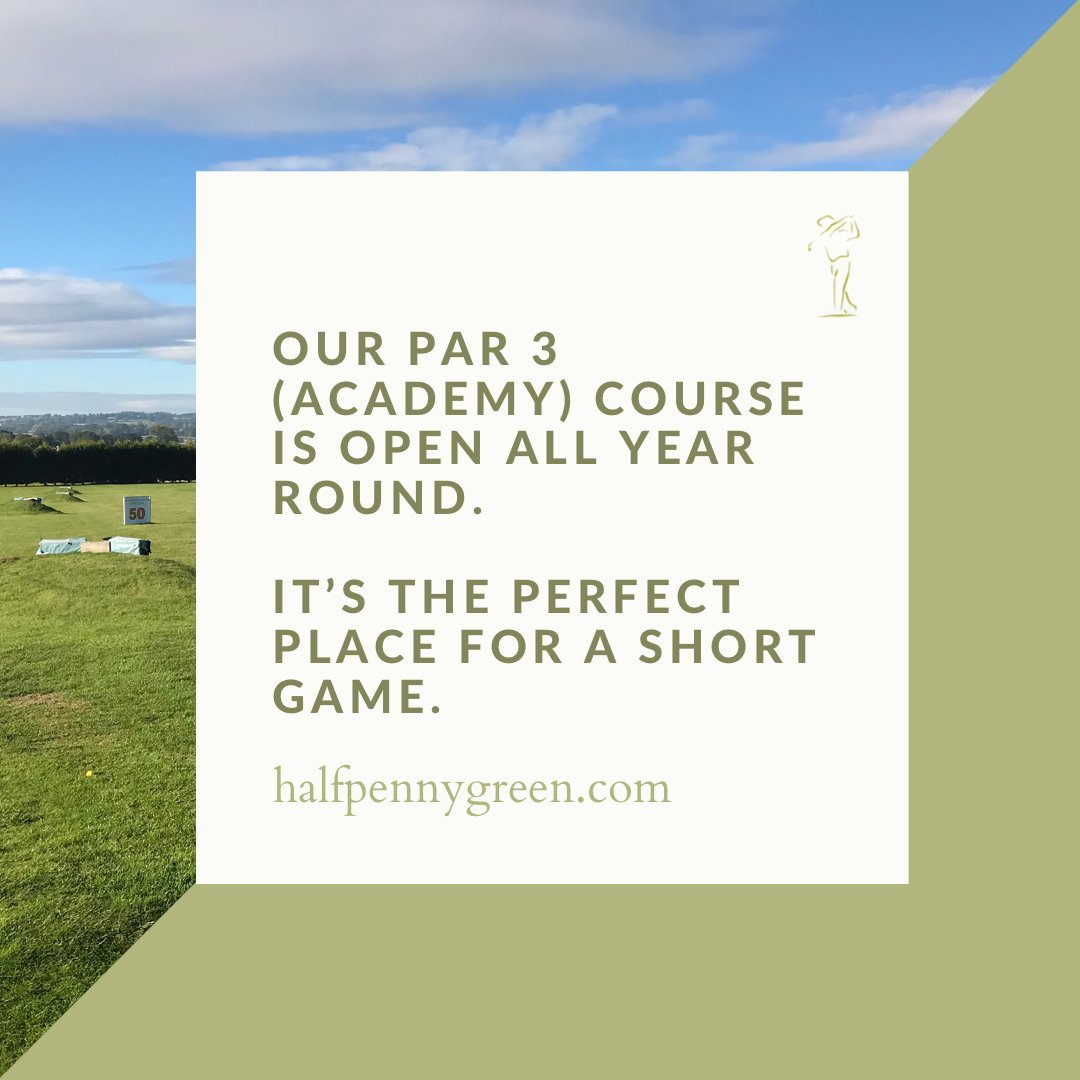 Our par 3 (academy) course is open all year round. It's the perfect place for a short game. #halfpennygreen #golf #golfing #pgagolf #golfcourse #par3course #par3 https://t.co/TDbFgq0EWz https://t.co/VFpSXrFJdk