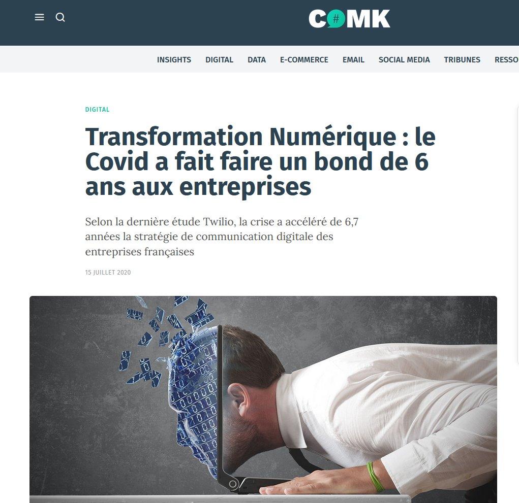 Transformation Numérique : le Covid a fait faire un bond de 6 ans aux entrepriseshttps://comarketing-news.fr/transformation-numerique-le-covid-a-fait-faire-un-bond-de-6-ans-aux-entreprises/?fbclid=IwAR0-as7wmnDc18FCmvDn6EyCcraPsmrRDz0xQg-ETu8QSA5E4nRRXzw87qovia @ComarketingNews https://t.co/vqcn3eLuuD