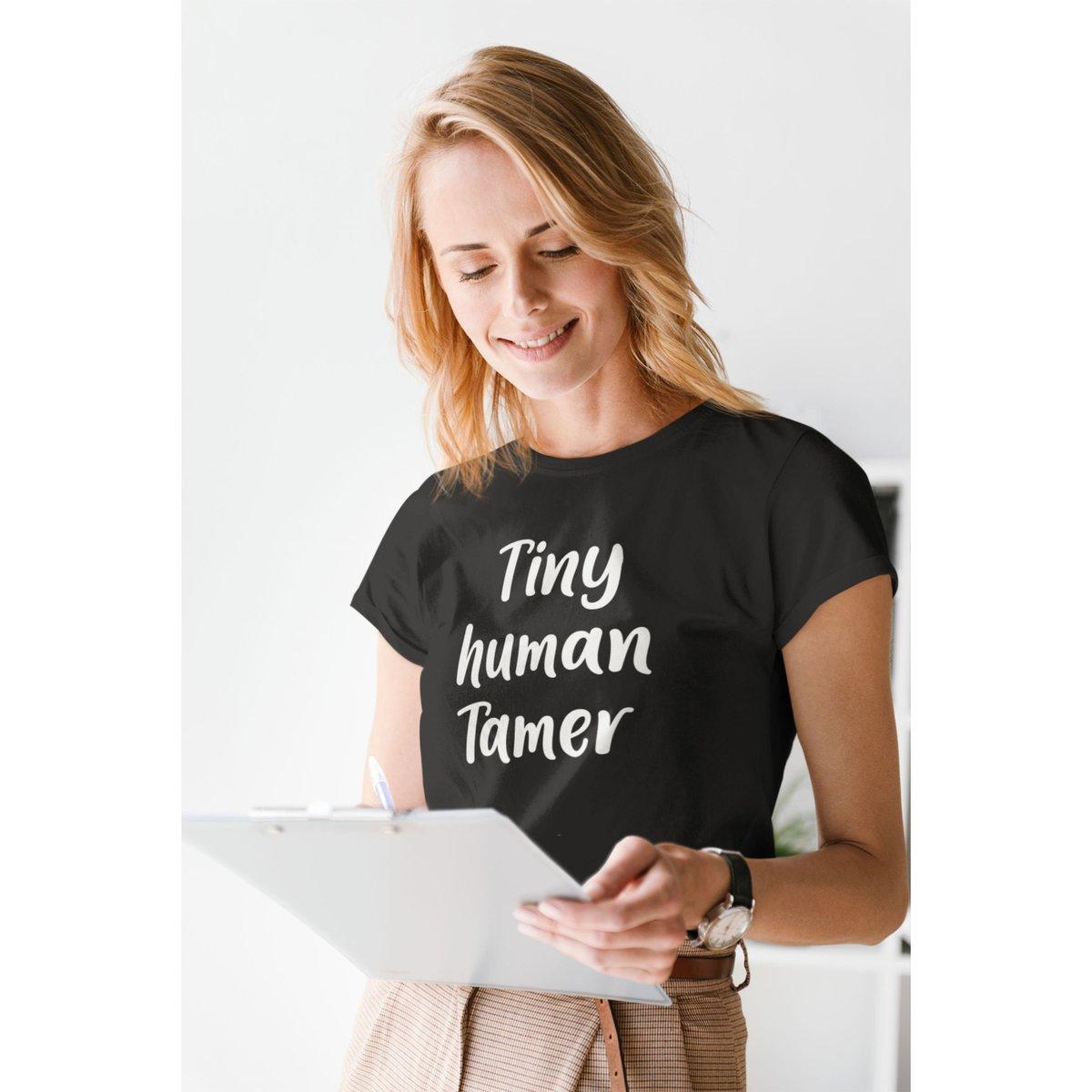 Tiny Human Tamer - Teacher Day Care unisex shirt https://t.co/WipzFQoJQI #shortsleeve #teachershirt #teachergroupshirts #kindergartentshirt #preschoolteacher #tinyhumans #prekteacher #daycareprovider #teachergifts https://t.co/4ZN1HAousX