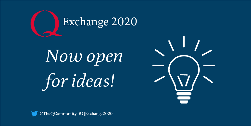 🎉 #QExchange2020 is now open! 🎉  Apply for up to £30,000 for your improvement idea under this year's theme: Embedding positive changes emerging through new collaborations or partnerships during COVID-19.  Find out more: https://t.co/5hp6d3Yvjq #Qcommunity https://t.co/MMoQCsuk2T