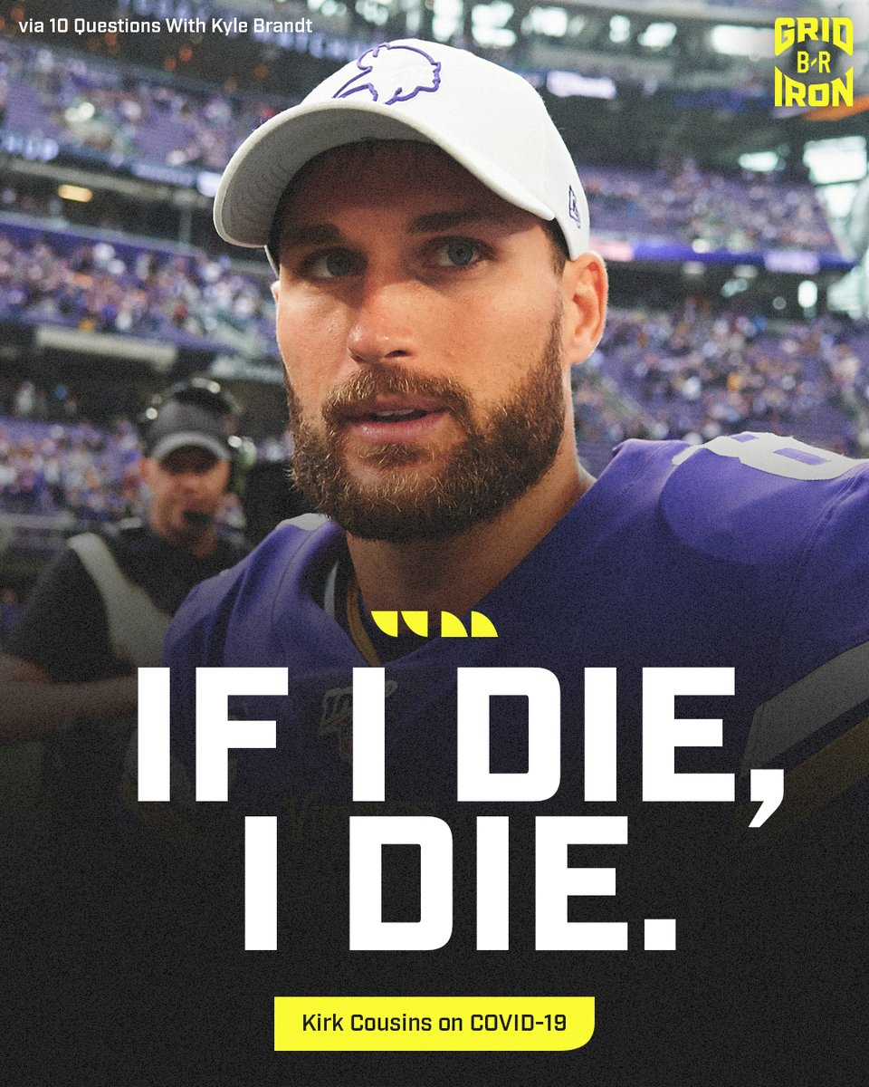 Despite over 184,000 U.S. deaths, the Vikings QB isn't worried about the disease @brgridiron   (via @KyleBrandt) https://t.co/7rOBrwPCju
