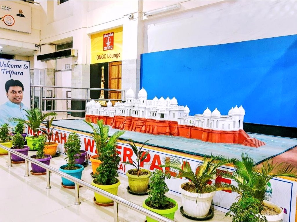 Airports Authority Of India On Twitter Intending To Showcase Historical Culture Of Tripura Replica Of Neermahal Water Palace Is Main Attraction In Arrival Hall At Agartala Airport Aaiagtairport It Is An Architectural Marvel