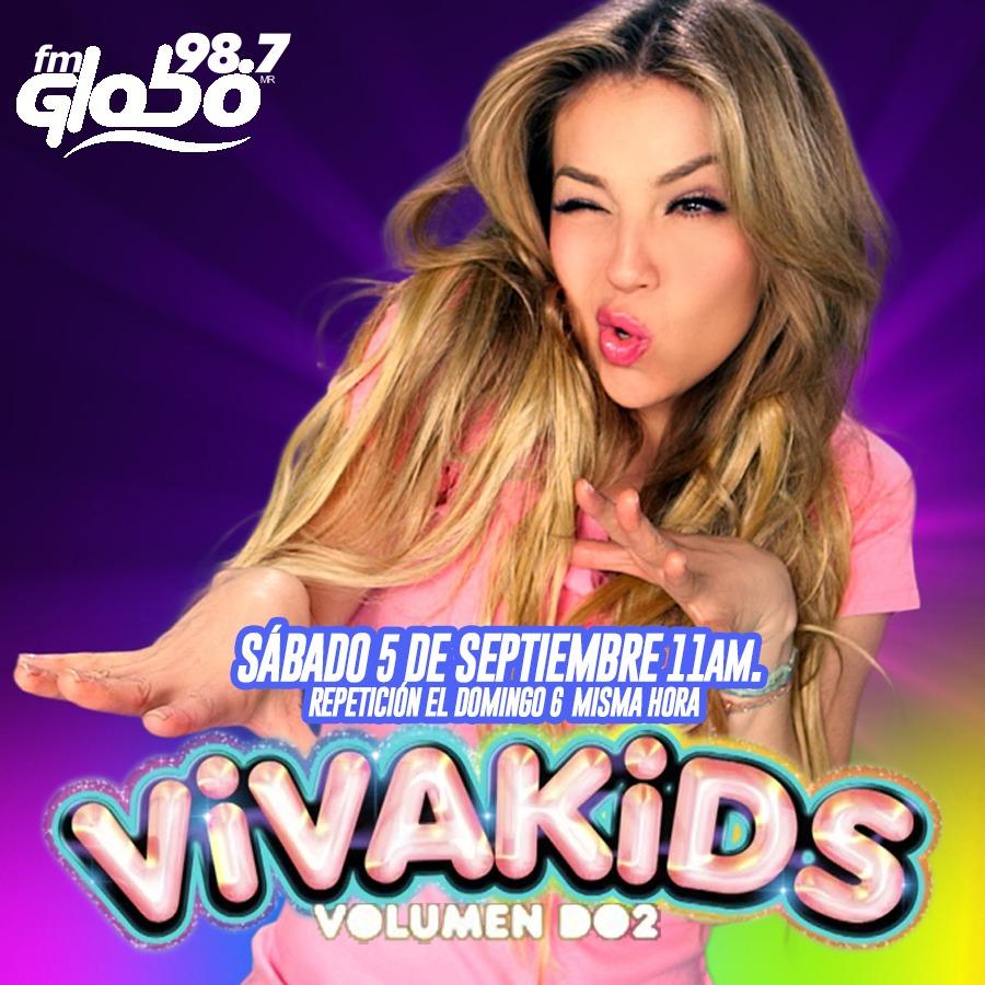 Este sábado a las 11am disfruta del programa especial presentado por @thalia En exclusiva para #FMGlobo Guadalajara #VivaKidsVol2.  Repetición Domingo 6 misma hora.