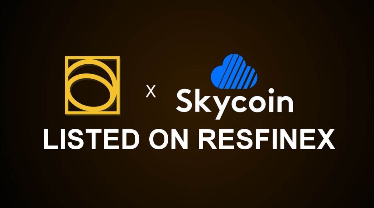 Thank you to the @GoldenRatioTeam for your support of $SKY on @resfinex! Glad to have our first pairing with you as well! We'll see you all on Resfinex on Sept. 26th!