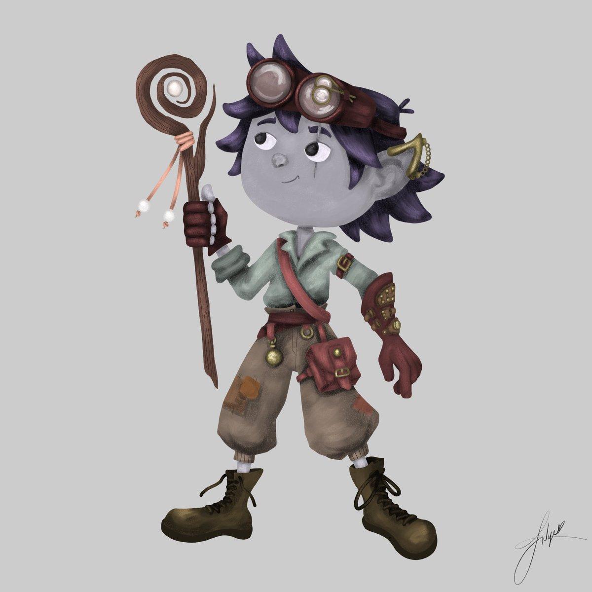 #Artwork Awesome of the Day: #Steampunk ⚙️ Character #Illustration 🖼️ By Illustrator & Vis Dev @jadoodle_noodle #SamaArt