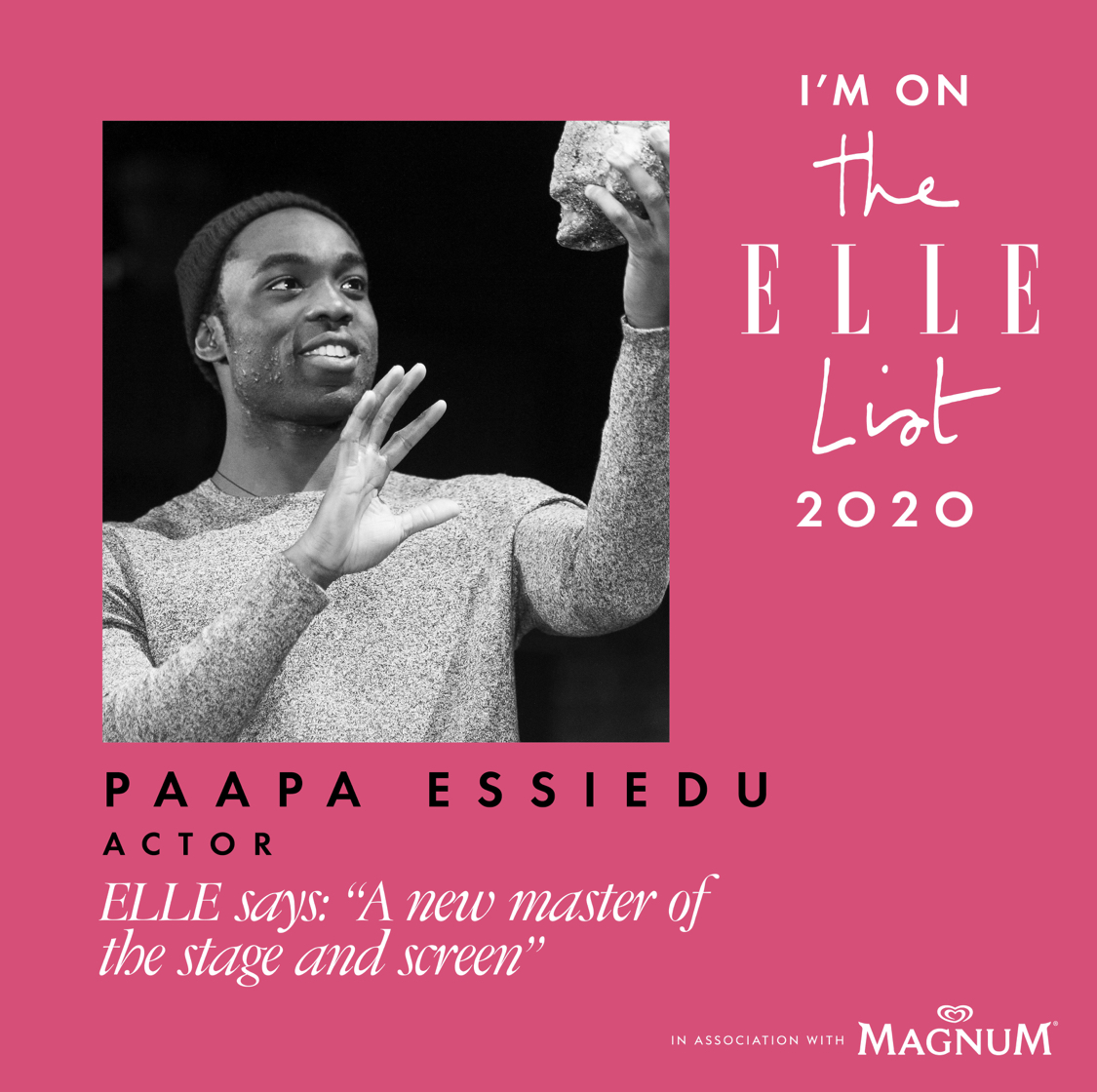 E L L E L I S T 2 0 2 0 Thank you @ELLEUK Very proud and humbled to be listed alongside these real Gs 💪🏿💪🏿💪🏿
