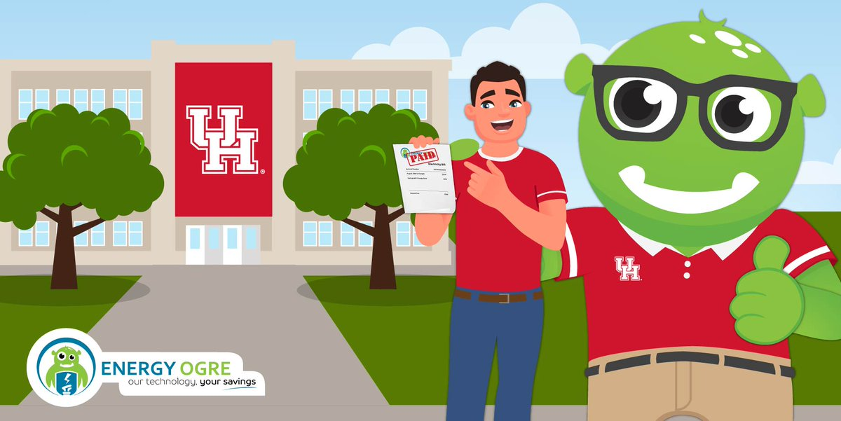 We are proud to partner with @EnergyOgre to give one lucky Coog paid electricity FOR ONE YEAR!   REGISTER   https://t.co/VrPYaoKhRs   Be sure to click on the savings calculator, screenshot your savings, and then share it with friends, & tag @EnergyOgre  #GoCoogs https://t.co/gkk0rgv96k