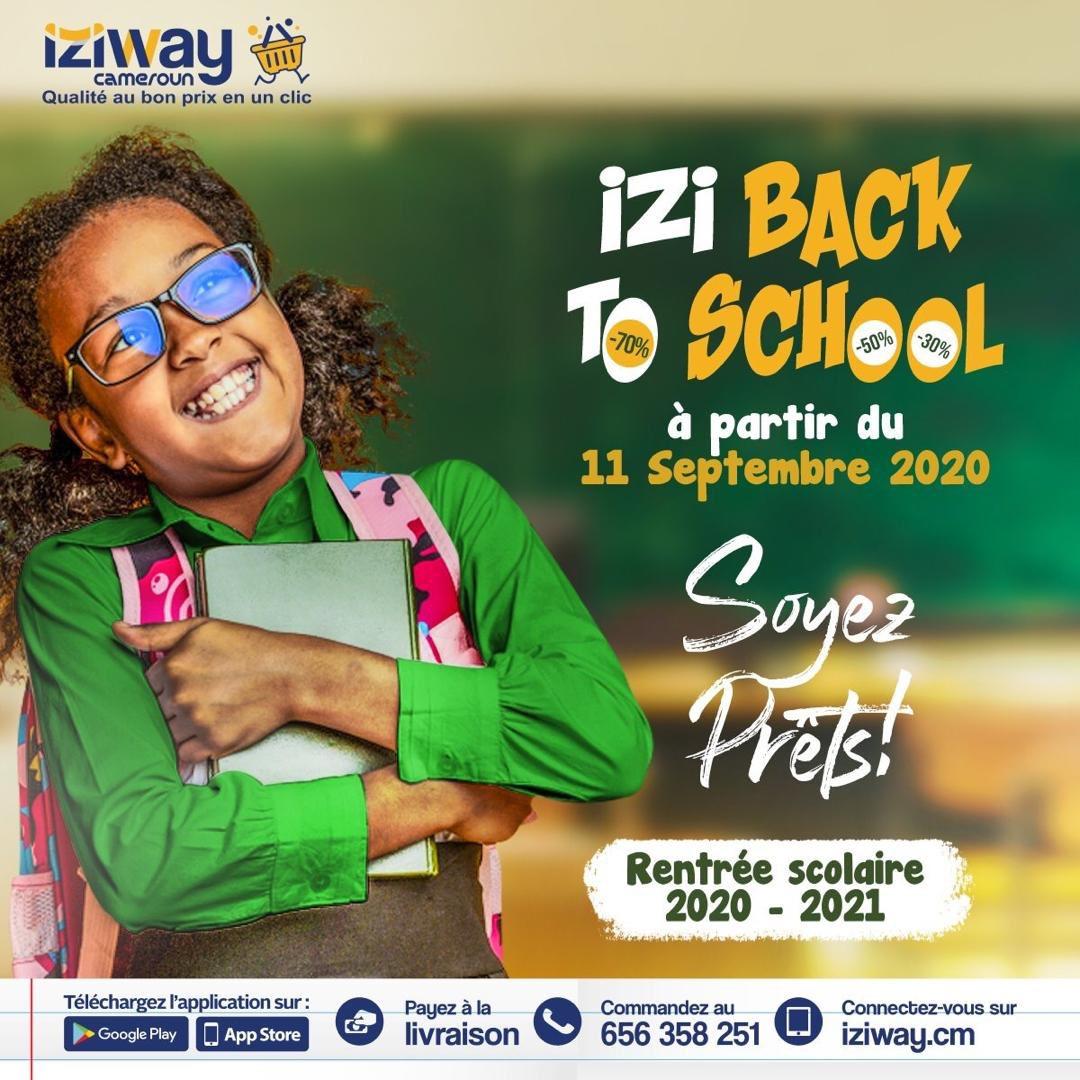 📚IZI BACK TO SCHOOL📚  ⚠️ SOYEZ PRÊTS   C'est bientôt la rentrée scolaire n'attendez pas le jour j pour acheter vos cahiers, livres, crayons, stylos... et de bénéficier de 30, 50, 70% de réduction.  #iziway #iziback2skul #RentreeScolaire #rentree20202021 https://t.co/6Arf6aLMHu