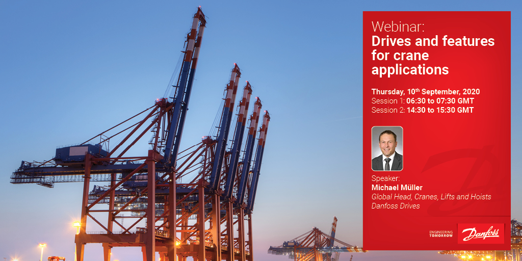 Optimize crane performance using #ACdrives. Join us for an exclusive #cranes #webinar with our expert Michael Müller to learn more!  Thursday 10th September, 2020  Session 1: 06:30 to 07:30 GMT  https://t.co/IPU97uYZBx   Session 2: 14:30 to 15:30 GMT  https://t.co/ZU3FgVo2vE https://t.co/16kBME0dKM