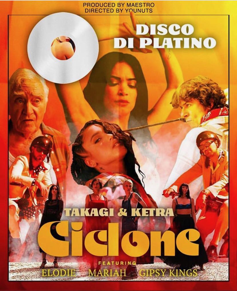 """Ciclone"" is certified platinum 📀! #gipsykings #nicolasreyes #toninobaliardo #takagieketra #elodie #mariah #platinum #song #2020 https://t.co/vTmCFsAQUL"