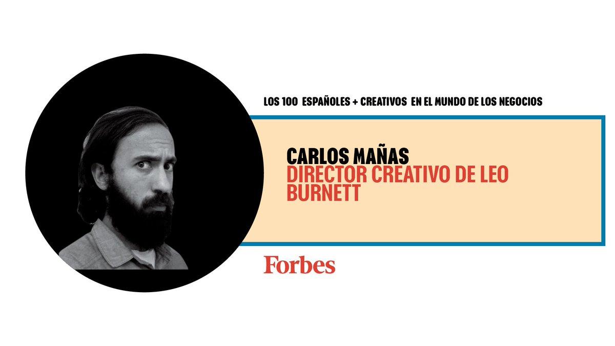 """Carlos Mañas es el director creativo de @leoburnett_es. Suyas son la emotiva campaña """"La Reserva"""" para seguros Axa y la última (y tremendamente rompedora) de Old Spice #100CreativosForbes https://t.co/QoXfkLBhzZ https://t.co/RGmIz3MQDd"""