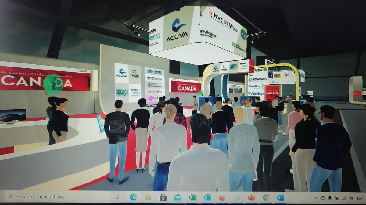 Sign of the times. This is how a full house at the Canada 🇨🇦 booth looks like nowadays #ExpoAgua2020 💧  @acuvatech @TrojanTech @CIP_SA @SecureCitySolns @ACODAL @Ailish_Campbell @SaraDCohen @CanadaColombia @TCS_SDC @marcel_lebleu https://t.co/KXyNfWOuXp