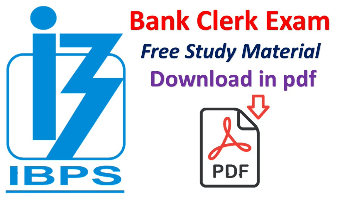 IBPS Clerk Exam Reasoning Study Material pdf