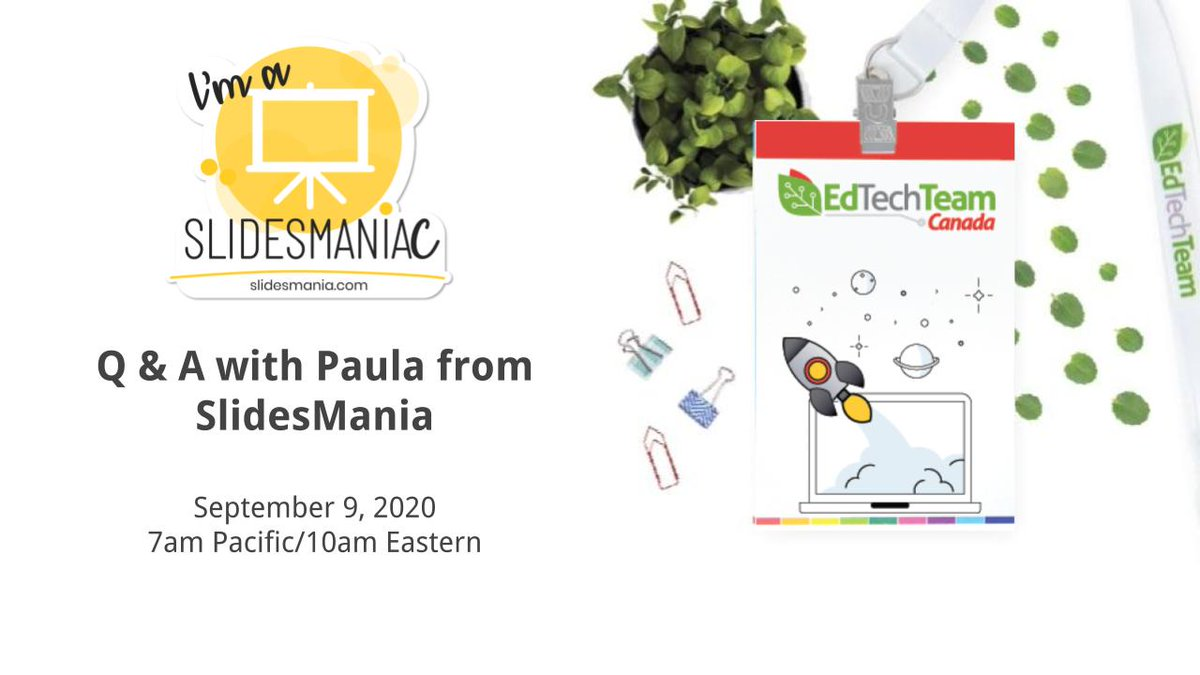 So excited for this Q & A event with Paula from  @SlidesManiaSM.  https://t.co/iGD5FgEuXj Hope you'll join us! #GoogleSlides & #PowerPoint! https://t.co/BjfbboDFZV