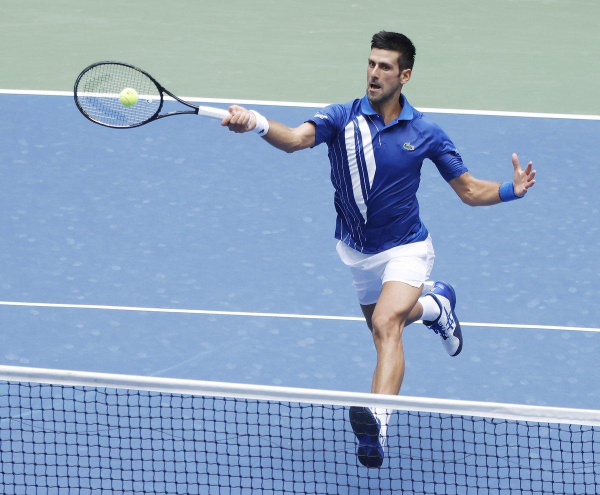 2⃣5⃣ wins in a row   Novak Djokovic still unbeaten in 2020 thanks his victory over Kyle Edmund 6-7 6-3 6-4 6-2 #USOpen