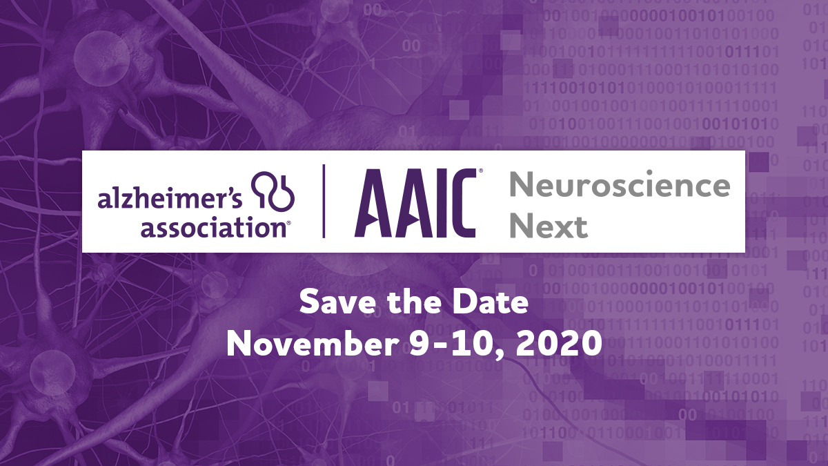 We're excited to announce that the first-ever AAIC Neuroscience Next will take place Nov. 9-10! Researchers are invited to attend this free, virtual event showcasing the work of neuroscience students & early career investigators. More information coming soon! #ENDALZ https://t.co/VctTrL5nu0
