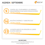 Image for the Tweet beginning: #EventosSeptiembre | Prográmese con los