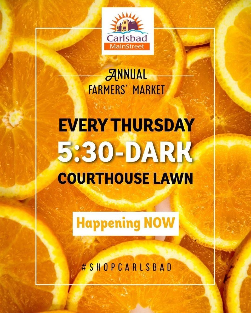 Whatever you're doing tomorrow, be sure to stop by the court house lawn around 5:30 for the Farmers' Market! See you there! https://t.co/sbxPIOn5Mq