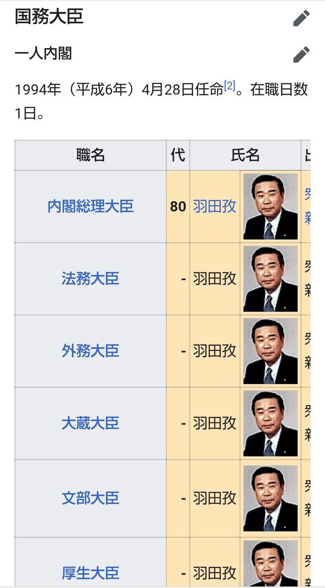 総理 大臣 歴代 内閣
