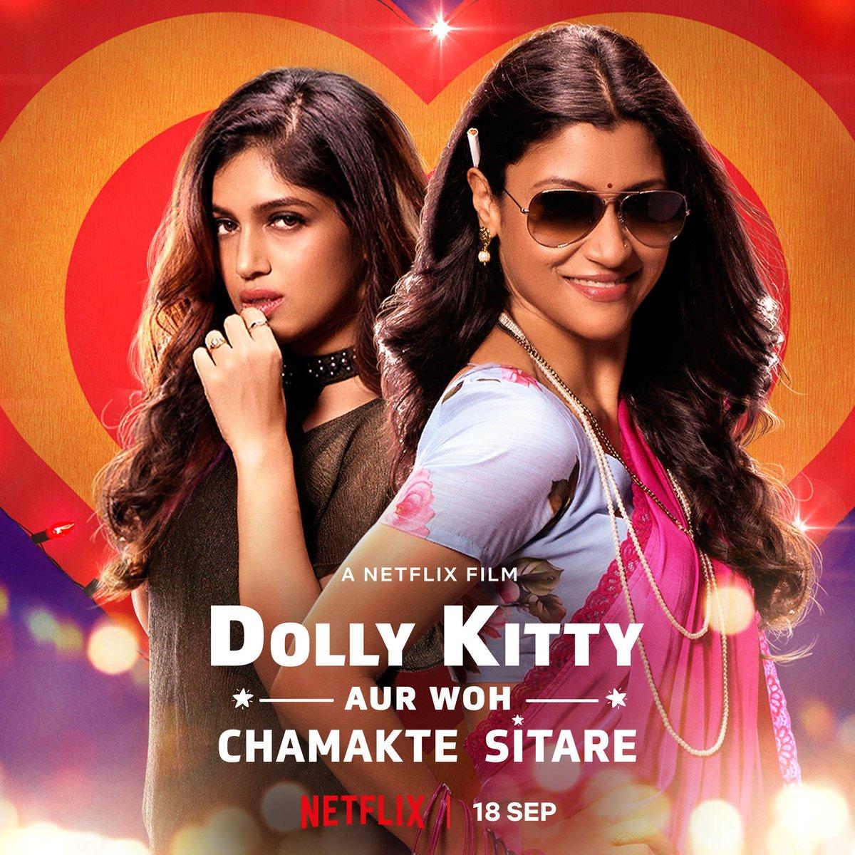 #DollyKittyAurWohChamakteSitare by @alankrita601, feat. @konkonas @bhumipednekar @masseysahib @amolparashar @kkundrra @KubbraSait #NeelimaAzim and @AamirBashir, premieres Sept 18th on @NetflixIndia.  Trailer out tomorrow.  @ektaravikapoor @balajimotionpic