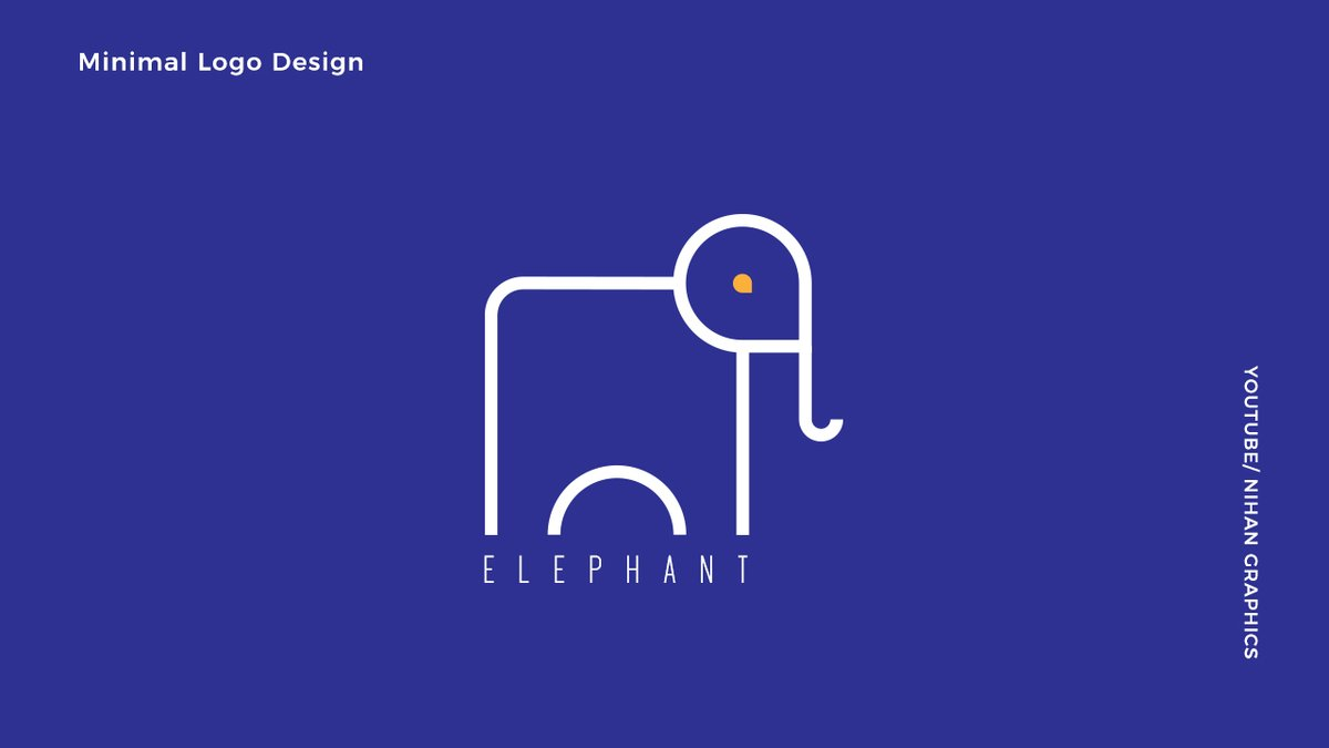 Elephant logo design in Illustrator . https://t.co/5eQDRyjb71 . #Elephants #elephant #elephantkerala #ELEPHANTNATION #elephantlogo #elephantvector #Logo30 #logodesign #Logodesigner #logos #Logotipo #logomaker #LogoYokCesaretVar #graphicdesign #graphic #graphicart #Illustrationart https://t.co/YPHn1Ug2ew