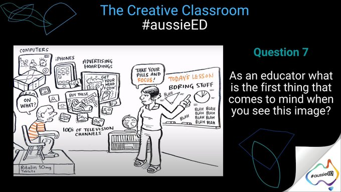Q7 - As an educator what is the first thing that comes to mind when you see this image? #aussieED https://t.co/20d6DVYlYG