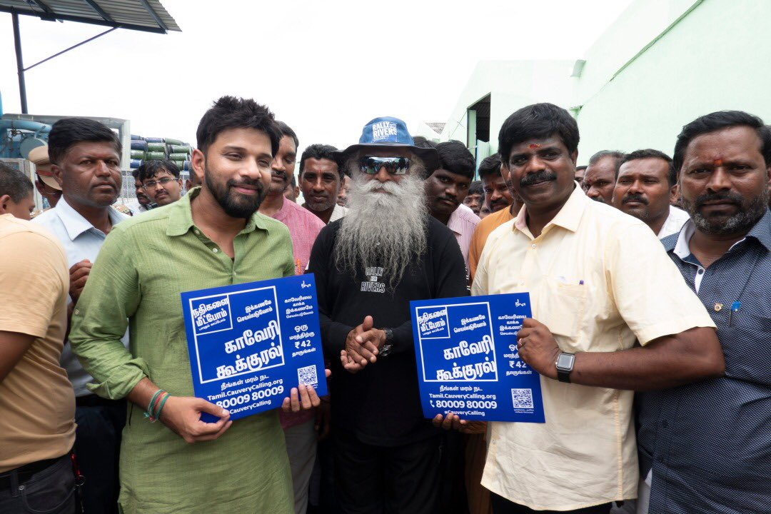 Happy birthday to dear @SadhguruJV, who has inspired many around the world😊 Here's a throwback to this day last year and dedicating this day for river revitalization as well😇 #CauveryCalling #RiverRevitalization @ishafoundation https://t.co/tVh4QMOKxQ