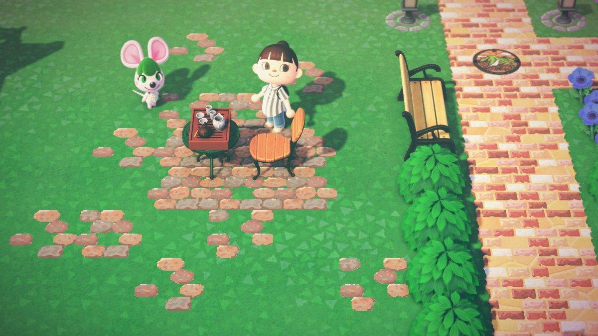 レトロなレンガの敷石です。作者IDから全て見ることができます。#どうぶつの森 #AnimalCrossing #ACNH #NintendoSwitch #あつ森 #マイデザイン