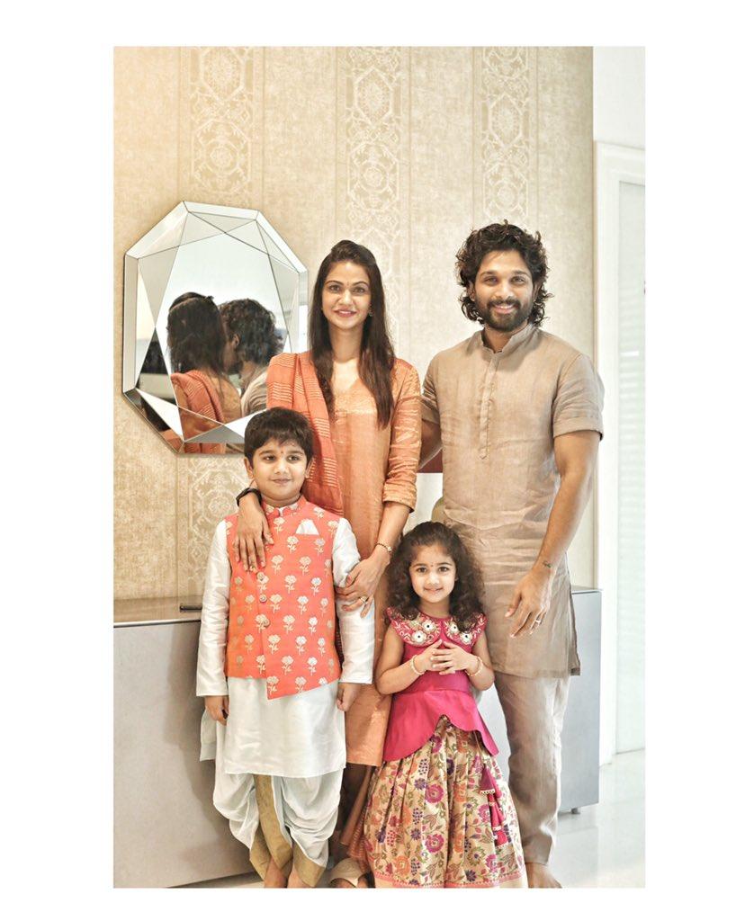 Happy Vinayaka Chavithi to you and your family. Love #Allufamily https://t.co/NTTsu2k9zF