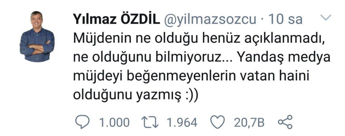"Ali Gedikoglu's tweet - ""Cep sondajcısı Yılmaz özdil yeni Kemalist ..."