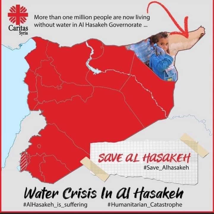 """سكوت ما يسمى بالمجتمع الدولي عن قطع المياه عن حلب و دمشق سابقاً و عن الحسكة حالياً انما دليل اضافي على نفاق هذا """"المجتمع"""" و تحيزه الاعمى لصالح حلف الناتو و اسرائيل.. https://t.co/r5sQSpghvQ"""