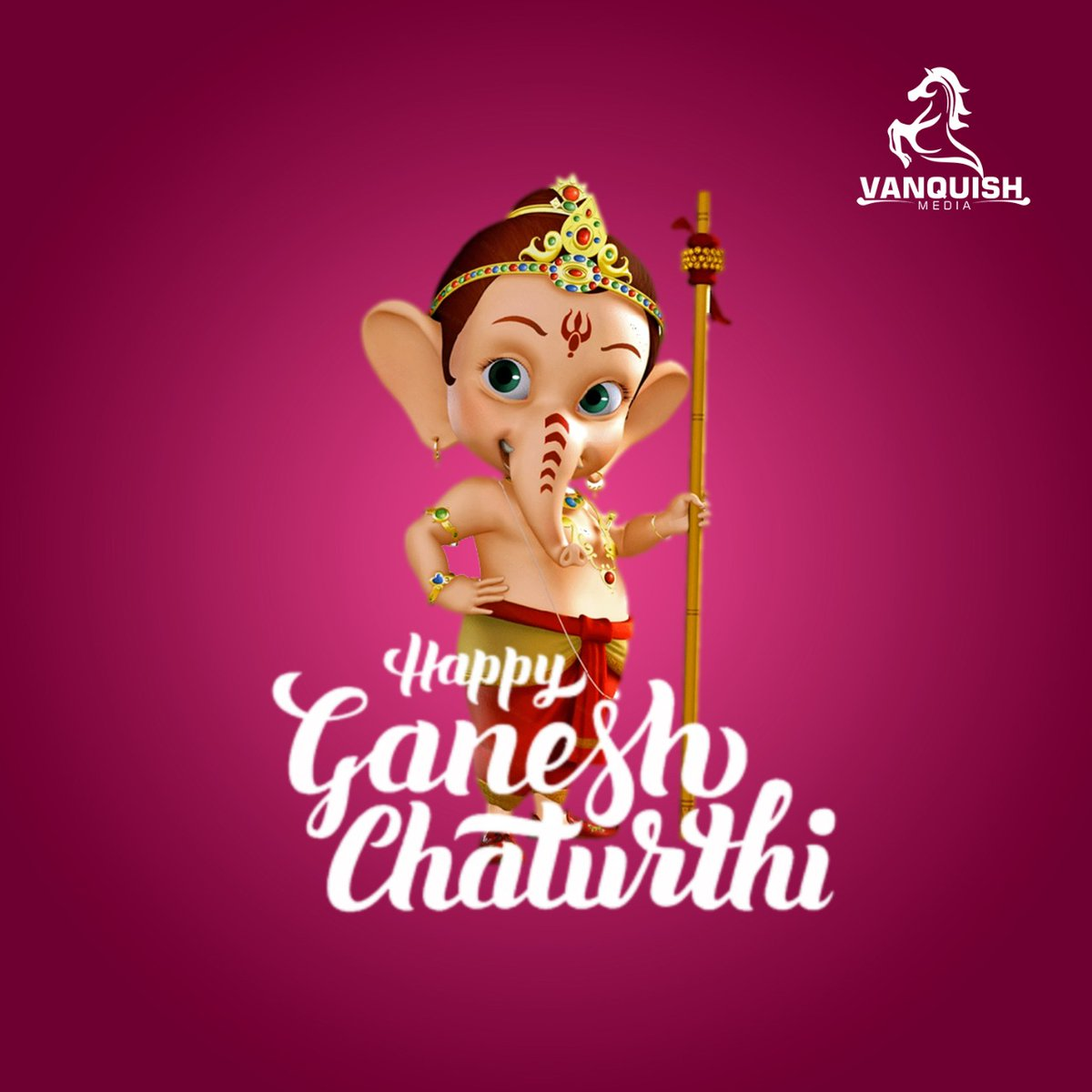VANQUISH MEDIA Wishes You all a Happy #GaneshChaturthi !   #GanapatiBappaMorya https://t.co/8RhvXP56Xo