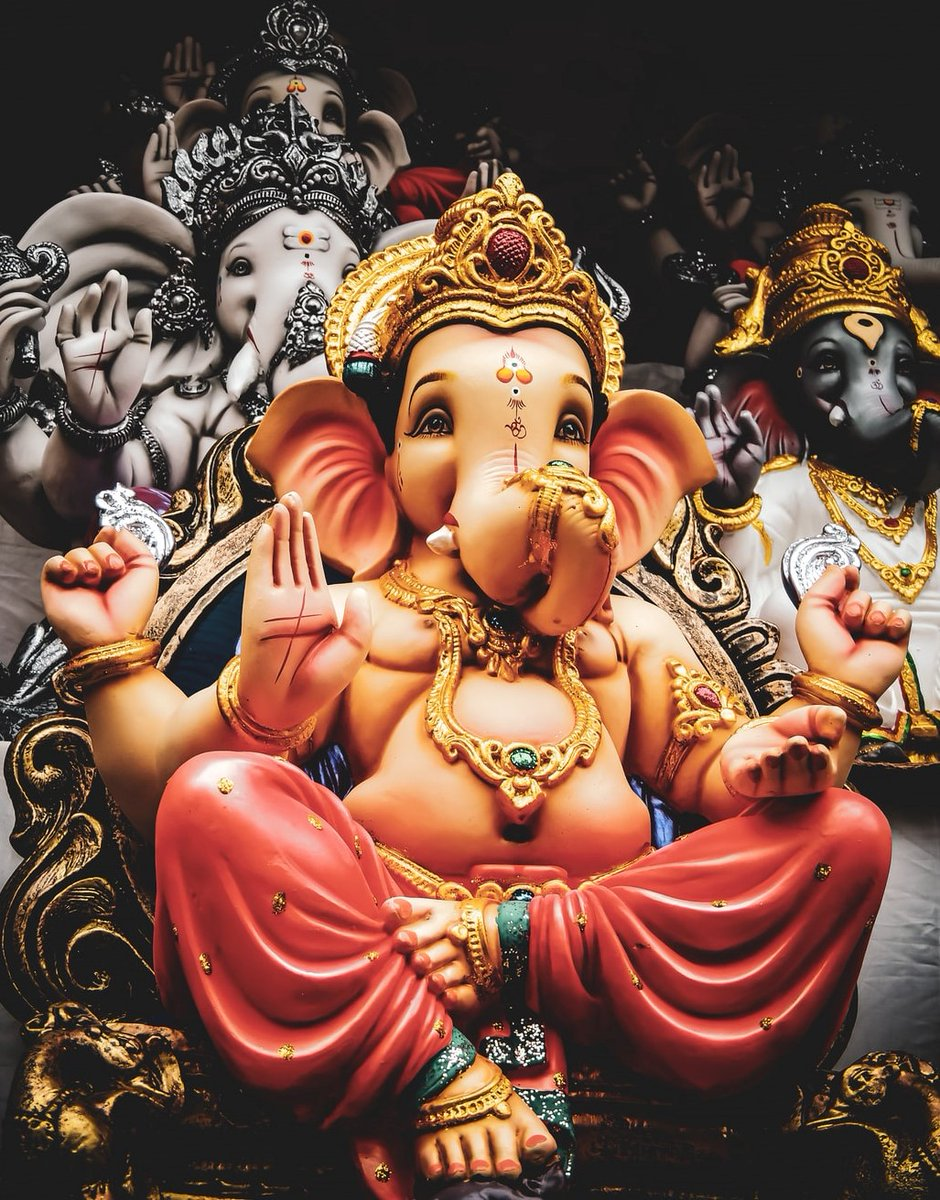 Happy Ganesh Chaturthi!   May Lord Ganesh remove all our Obstacles! And bless us with INTELLECT and WISDOM! 🙇♂️   #HappyGaneshChaturthi  #GanpatiBappaMorya