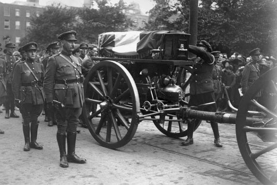 The funeral of Michael Collins.