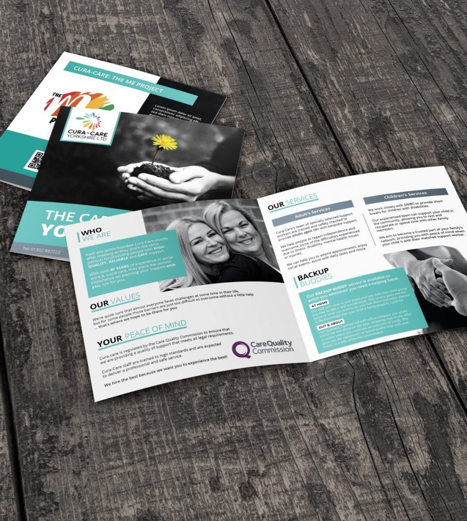 Brochure design for a local care company. #graphicdesign #graphicdesigner #brochuredesign #localbusiness #doncaster #doncasterisgreat #print