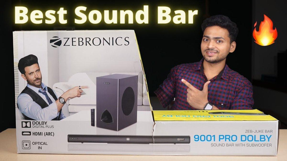 Best Budget Sound Bar 120 Watts | Zebronics Zeb-JUKEBAR 9001 PRO Dolby 🔥 https://t.co/xZIKTRe4EV  @zebronics https://t.co/tCop8uFGag