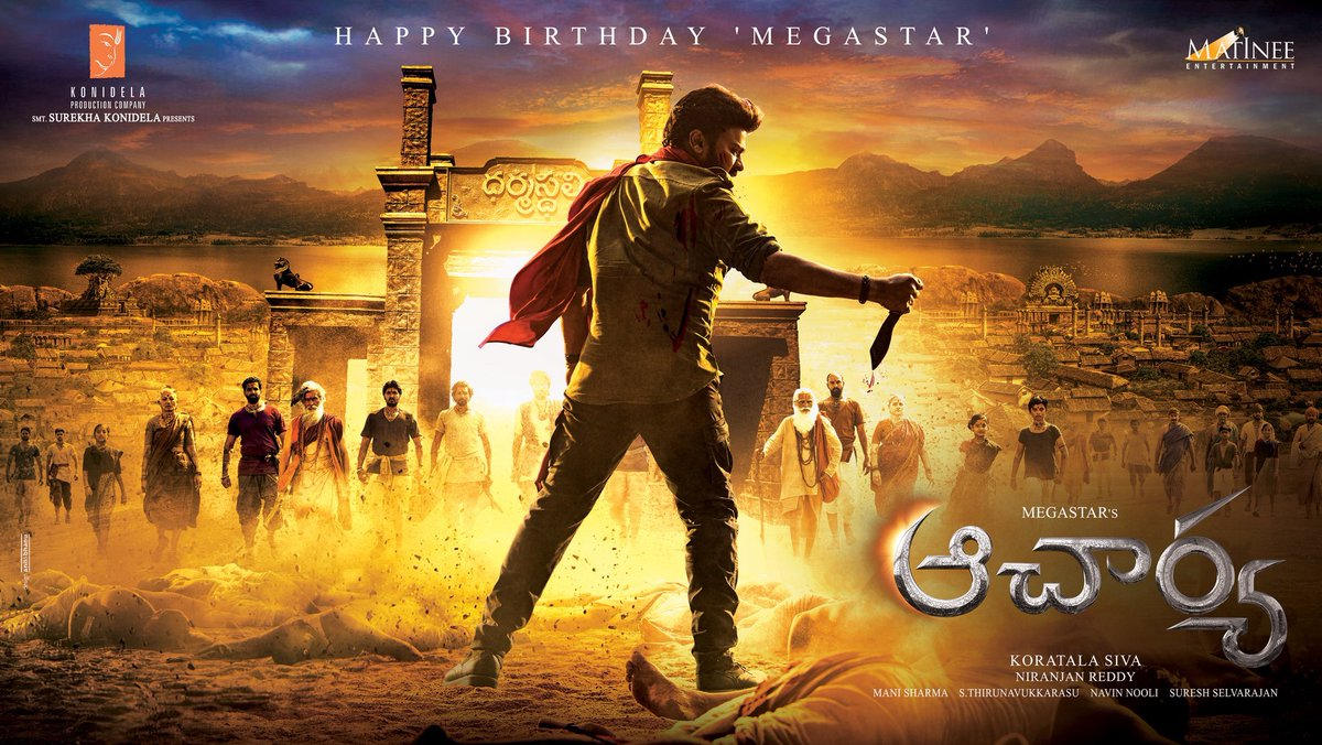 Happy birthday to the one and only Megastar @KChiruTweets You come back every time with even more dedication and power. All the best for the film sir !