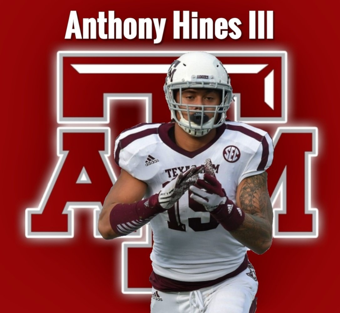 """NCAAF Nation on Twitter: """"⚪ LB Spotlight ⚪ Anthony Hines II - Texas A&M •  Hines has 106 Tackles, 16.5 Tackles for Loss, 3 Sacks and 1 Forced Fumble  in his career.… https://t.co/3lecqBl9X4"""""""