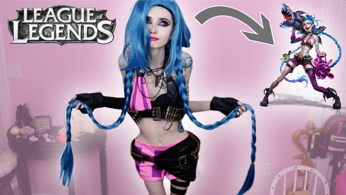 New video ✨ Jinx Cosplay Transformation and Makeup Tutorial! https://t.co/zh2iSbk3fy  I finally cosplayed Jinx from League of Legends after wanting to for a long time!! 💙Hope you guys like it 💜 https://t.co/Q0zUuv6jlN