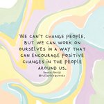 Image for the Tweet beginning: We can't change people, but