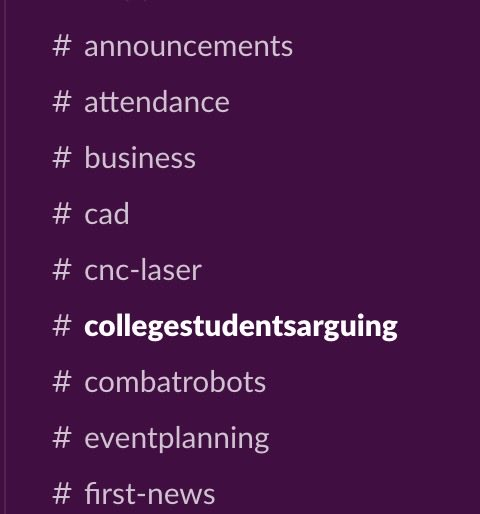 You know your team is having an impact when you can finally add an appropriately named @FIRSTweets alumni channel to your slack workspace.