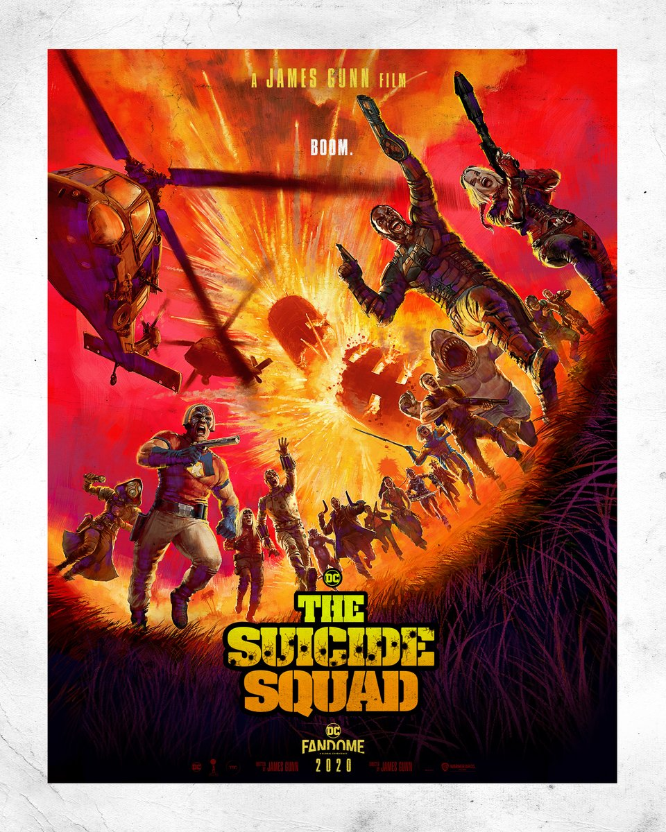 Again, thanks to all of you for checking out #TheSuicideSquad panel today at #DCFanDome. If you missed it, don't worry, there will be encores. But for now here's a final treat, a special @SuicideSquadWB DC FanDome Fan Poster we've been working on! I love it, how about you? https://t.co/sdQvWMHWWC
