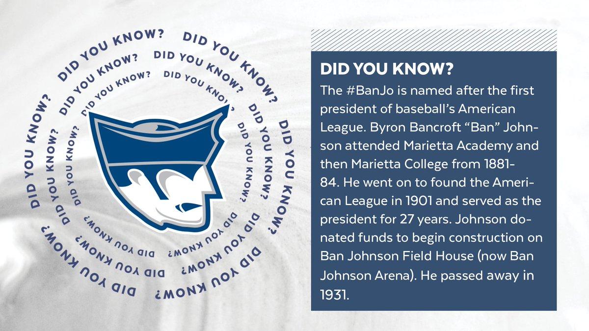How did Ban Johnson Arena get its name? @MC_Pioneerhoops @Marietta_WBB @marietta_vball  #PioNation #BringForthAPioneer https://t.co/gkVTGJ11Ku