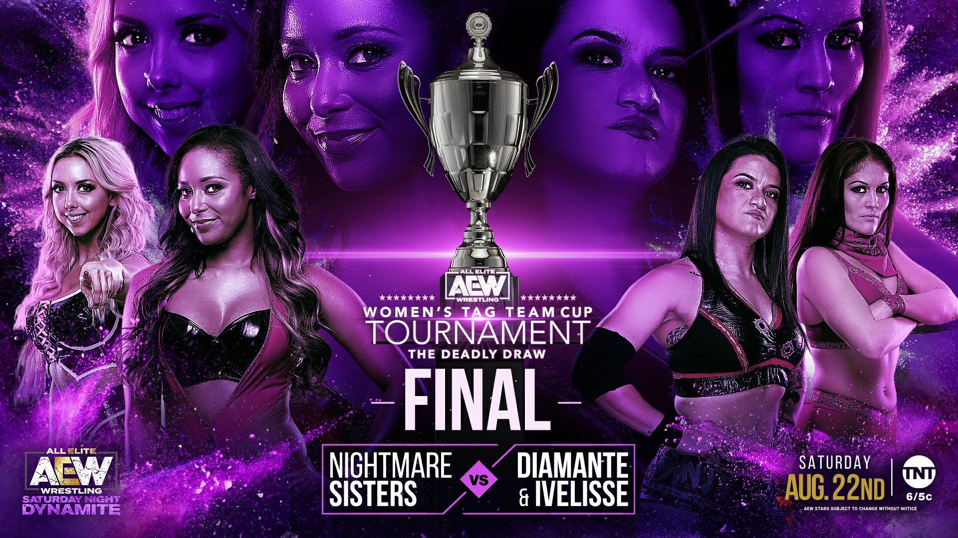 """Tony Khan on Twitter: """"Great to see @thunderrosa22 the NWA Women's World  Champion on #AEWDynamite, and now it's the finals of the Deadly Draw, the  AEW Women's Tag Team Cup Tournament, the"""