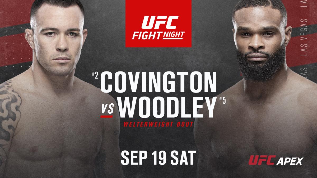 LOCK THE DOOR.  Covington-Woodley goes down Sep 19. #UFCVegas11 https://t.co/5dNyPYVTMu