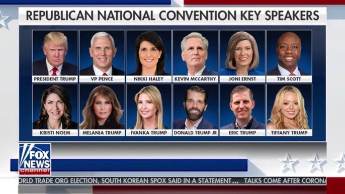 50% Trumps  Where are... George W. Bush and Mitt Romney? Where are Dick Cheney, Sarah Palin, or Paul Ryan? Or Mitch McConnell, Lindsey Graham, Susan Collins, John Cornyn, Tom Cotton?  I think the DNC may literally have featured more Republican politicians than this. https://t.co/T8drFnnDft