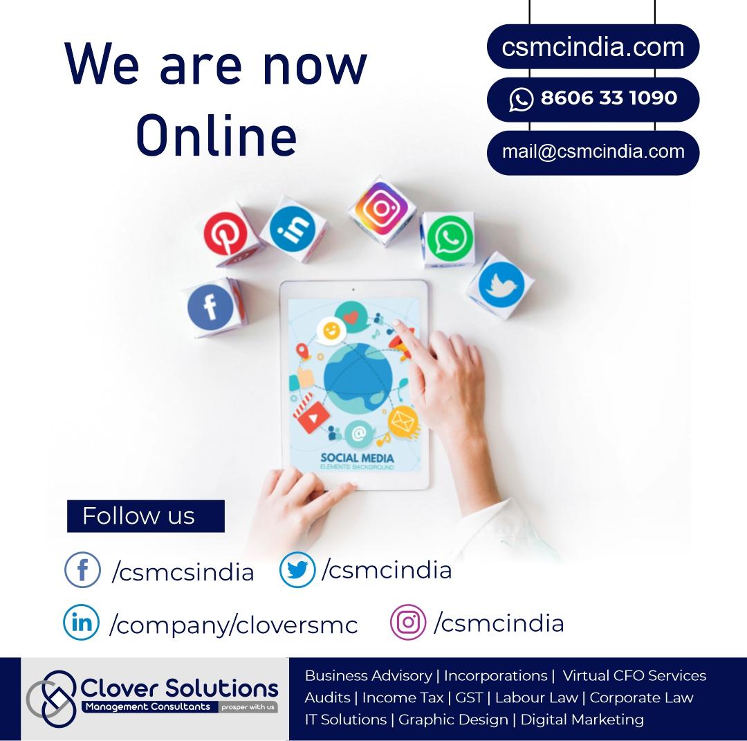 Follow us for updates:.   Facebook:  Twitter:  Instagram:  LinkedIn:  WhatsApp: +91 8606 33 1090  #CloverAlerts  #CSMCIndia #Management #Consultant #finances #Business #Services