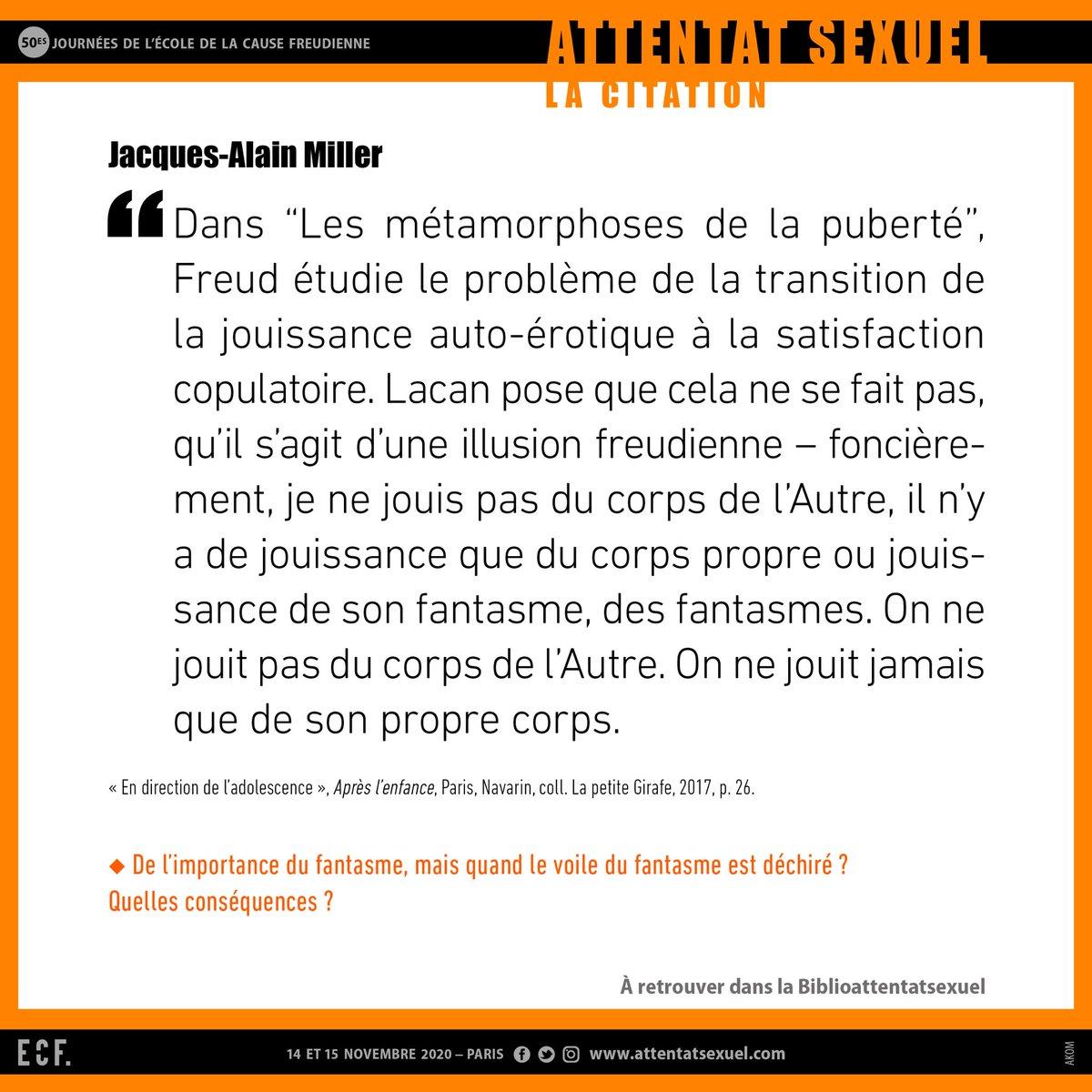 #J50 LA CITATION #JacquesAlainMiller https://t.co/zN88DWiBwf