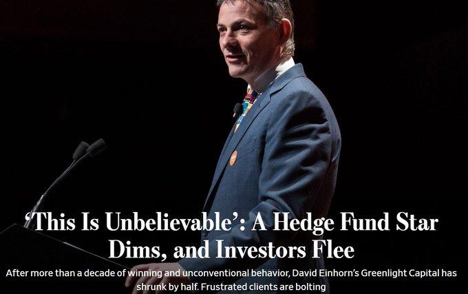 David Einhorn WSJ article