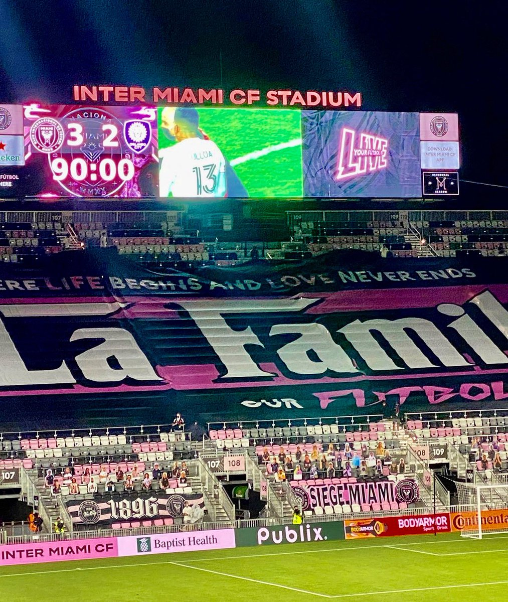 Starting our history with a BANG 💥 Well done la Familia @InterMiamiCF 💪🏾 #InterMiamiCF https://t.co/tqIv1IOkYp
